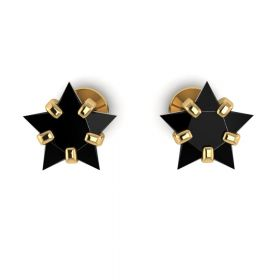 The Magnificent Black Stone Earring Stud