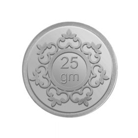 25 GM INVESTMENT SILVER COIN 24K (999)
