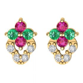 The Imaginary Multi Color Stone Earring Stud