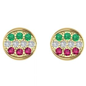 The Sensational Multi Color Stone Earring Stud