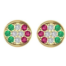 The Glorious Multi Color Stone Earring Stud