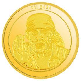 5 GM SAI BABA GOLD COIN 24KT (995)