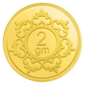 2 GM INVESTMENT GOLD COIN 24KT (995)